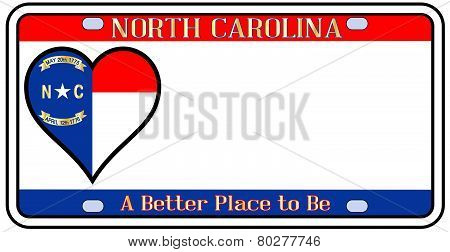 North Carolina License Plate