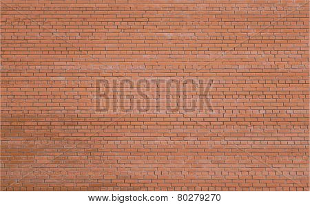 Background Red Brick Wall. Vector. Eps10