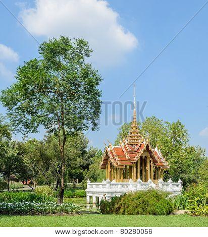 Thai Pavillion In The Garden