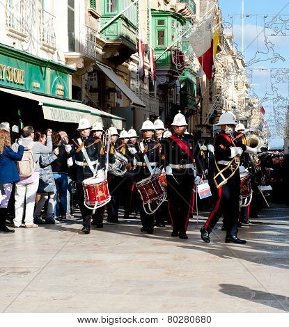 The Band Of Armed Forces, Malta,valletta