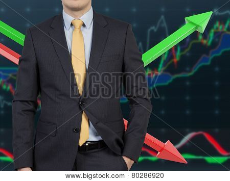 Businessman And Color Chart