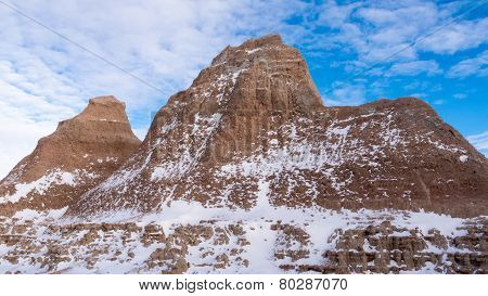 The Badlands In Winter