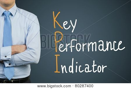 Businessman And Drawing Kpi