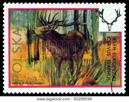 Vintage  Postage Stamp. European Hart.
