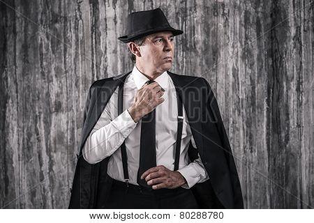 Confident Mafia Boss.