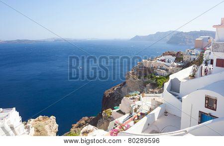 Generic View Of Santorini Island, Greece.