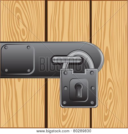 Outboard lock on door
