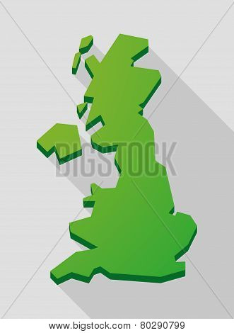 Green Long Shadow United Kingdom Map