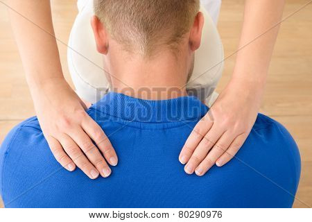 Man Receiving Shoulder Massage