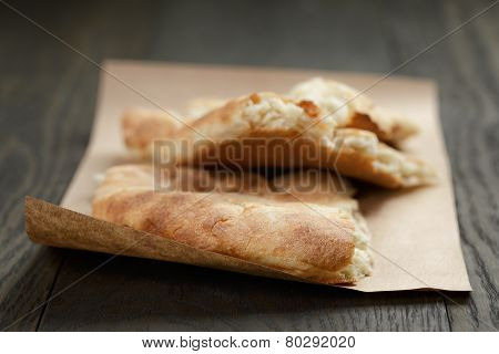 Freshly Baked Georgian Pita Bread On Paper