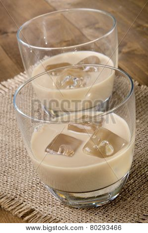 Irish Cream Drink In A Glass