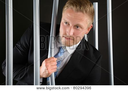Businessman Escaping From Prison