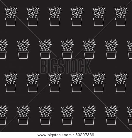 Vector background with cactus