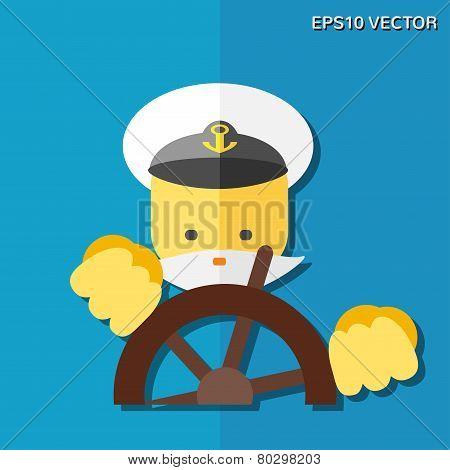 Captain Flat Icon