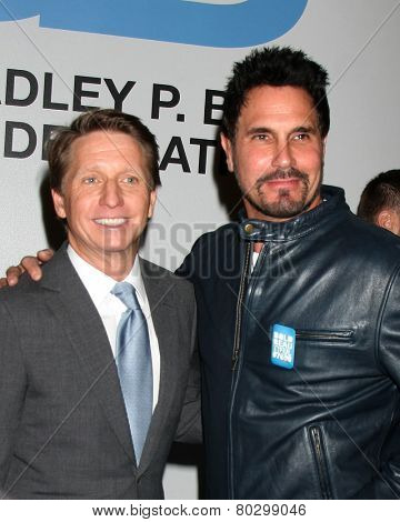 LOS ANGELES - JAN 14:  Bradley Bell, Don Diamont as the Bold and Beautiful Celebrates 7000th Show at a CBS Television City on January 14, 2015 in Los Angeles, CA