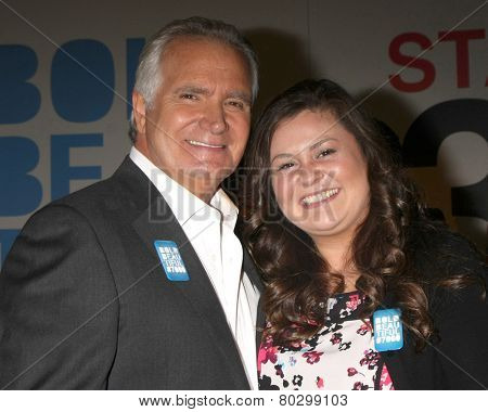 LOS ANGELES - JAN 14:  John McCook, Angelica McDaniel as the  Bold and Beautiful Celebrates 7000th Show at a CBS Television City on January 14, 2015 in Los Angeles, CA