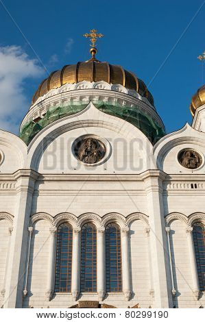Cathedral Of Christ The Savior On The Sunset, Moscow, Russia