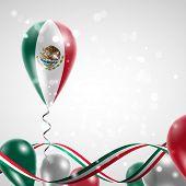 foto of balloon  - Flag of Mexico on balloon - JPG