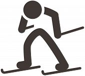 stock photo of nordic skiing  - The Cross - JPG