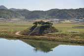 picture of andong  - View of Sisadan from Cheongwangdae at Dosanseowon in Korea - JPG