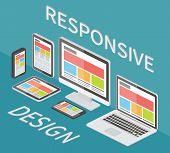 stock photo of isometric  - Responsive web design - JPG
