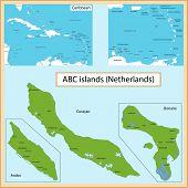 stock photo of curacao  - Map of the Aruba - JPG