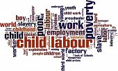 stock photo of labourer  - Child labour word cloud concept - JPG