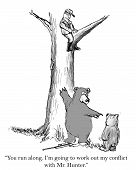 foto of objectives  - The bear and hunter have different objectives - JPG