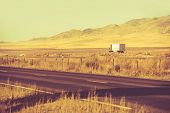 foto of trucking  - Down the Nevada Highway - JPG