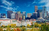 pic of highrises  - Sunny Day in Denver Colorado United States - JPG