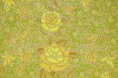 stock photo of batik  - The flower Batik Thai traditional background style - JPG