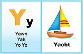 stock photo of kindergarten  - Alphabet letter Y with clip - JPG