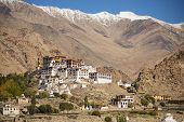 foto of buddhist  - Likir Monastery Buddhist Temple in Ladakh ,India - September 2014