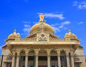picture of karnataka  - Vidhana Soudha in Bangalore city - JPG