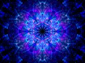 stock photo of higgs boson  - Splitted multicolored kaleidoscope fractal computer generated abstract background - JPG