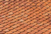 picture of red roof tile  - the home roof tile pattern texture   - JPG