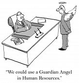 stock photo of guardian  - Every company would like a guardian angel in human resources - JPG