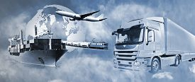 foto of going out business sale  - Transport of goods by truck boat plane and train - JPG