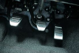 stock photo of pedal  - Car Pedals - JPG