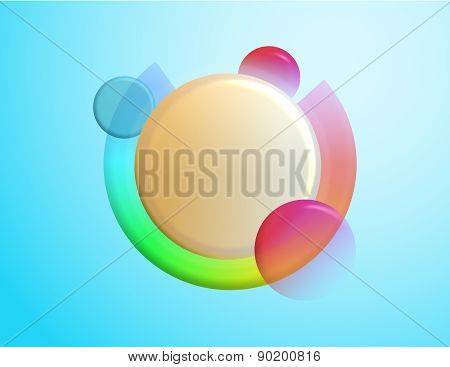 Abstract colorful floating spheres