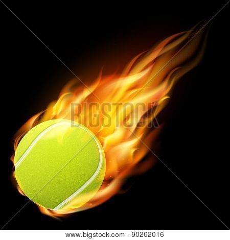 Flaming Tennis Ball.