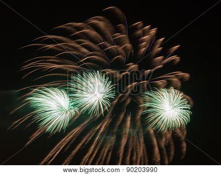 Beautiful Green Fireworks
