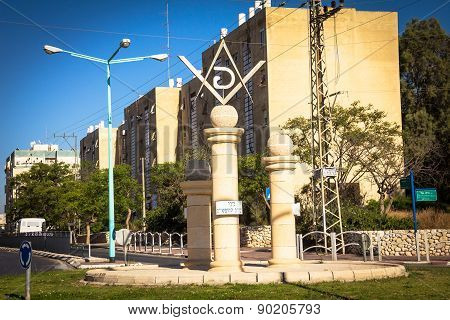 Masonic Square And Surrounding Streets In Beer Sheva