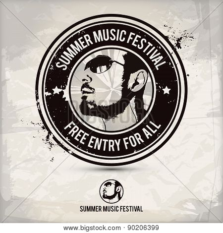 Summer Music Festival Stamp