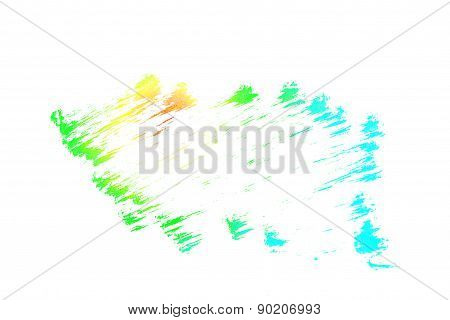 Abstract Grungy Texture Sketch Charcoal Colorful