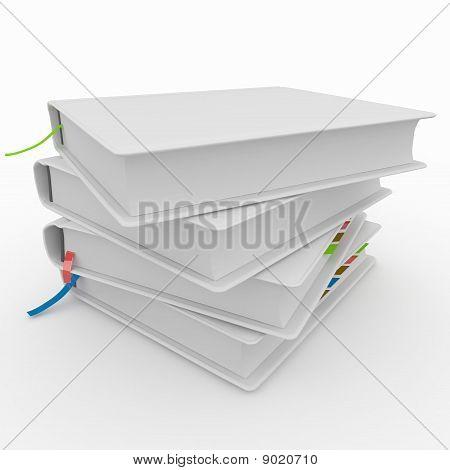 3D Blank Books