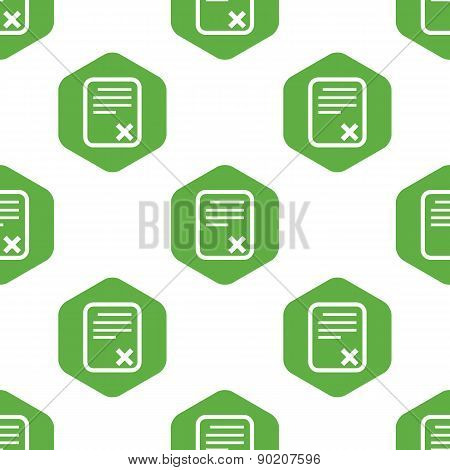Declined document pattern