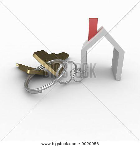 3D House With Keys