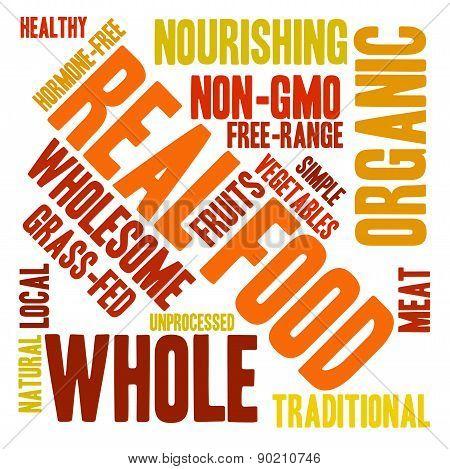 Real Food Word Cloud