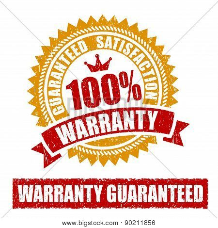 Warranty Rubber Stamp
